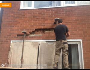 Replacing Cracked Brickwork