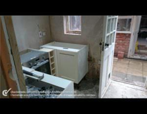During Kitchen Installation