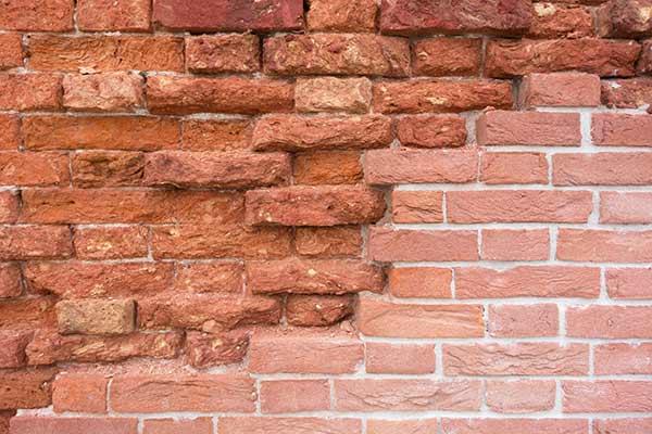 deteriorating dividing wall
