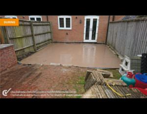 Before Levelling & Decking