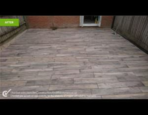 After Levelling & Decking